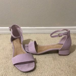 Lavender short heels